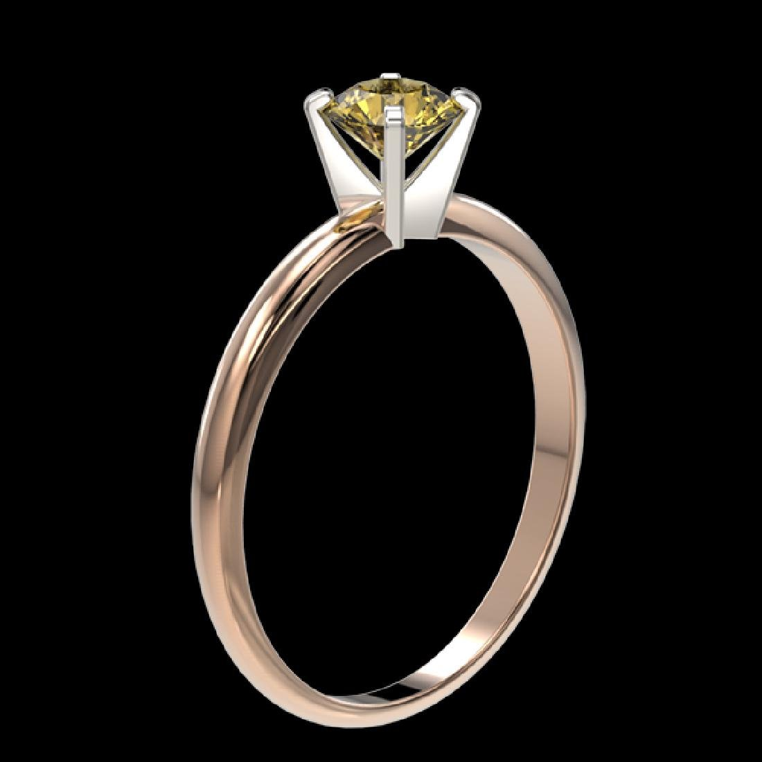 0.55 CTW Certified Intense Yellow SI Diamond Solitaire - 3