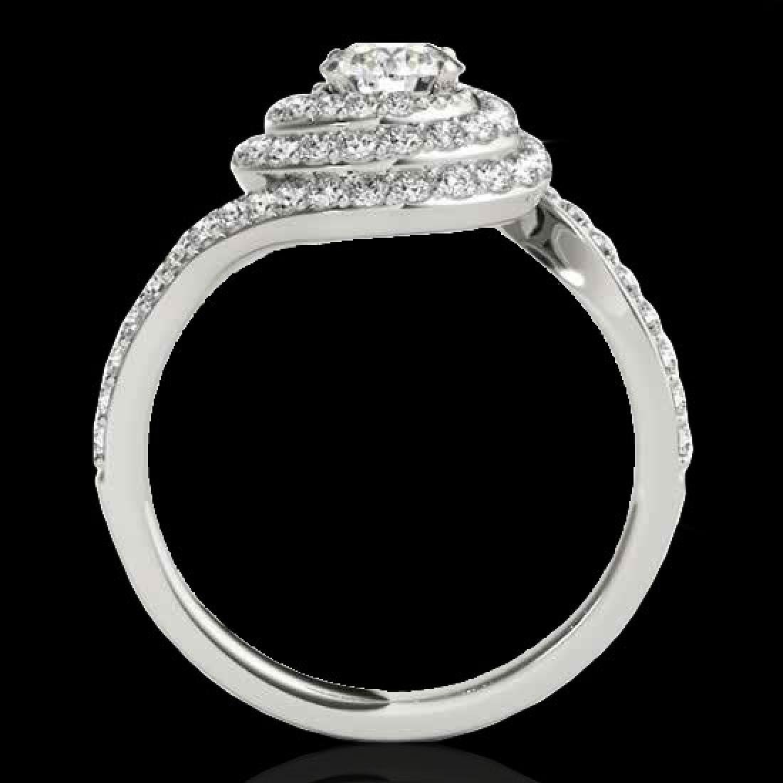 2.11 CTW H-SI/I Certified Diamond Solitaire Halo Ring - 2