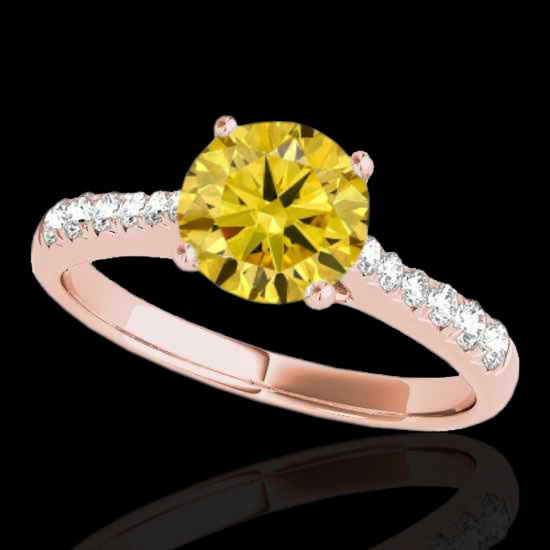 1.25 CTW Certified SI/I Fancy Intense Yellow Diamond