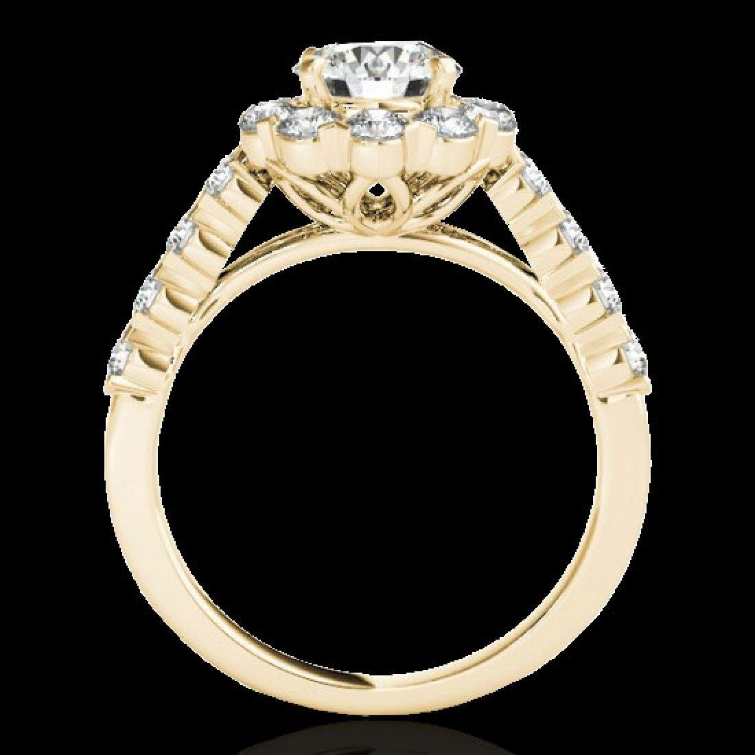 3 CTW H-SI/I Certified Diamond Solitaire Halo Ring 10K - 2