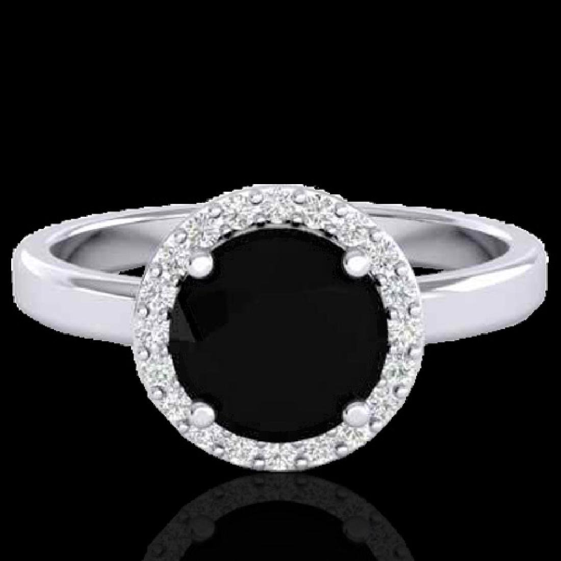 2 CTW Halo VS/SI Diamond Micro Pave Ring Solitaire 18K
