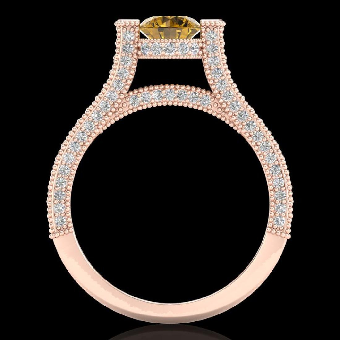 2 CTW Intense Fancy Yellow Diamond Engagement Micro - 3