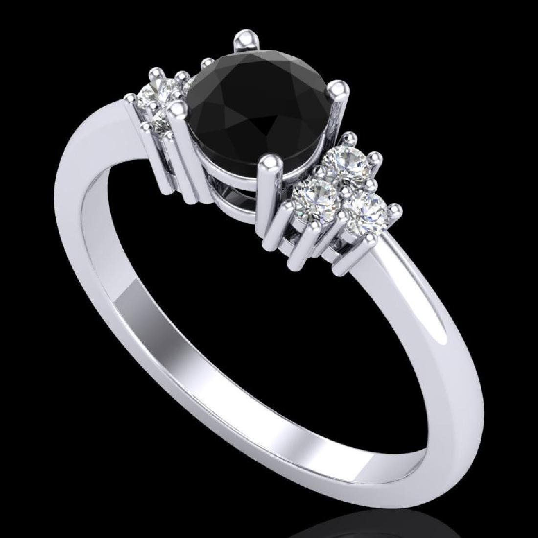 0.75 CTW Fancy Black Diamond Solitaire Engagement