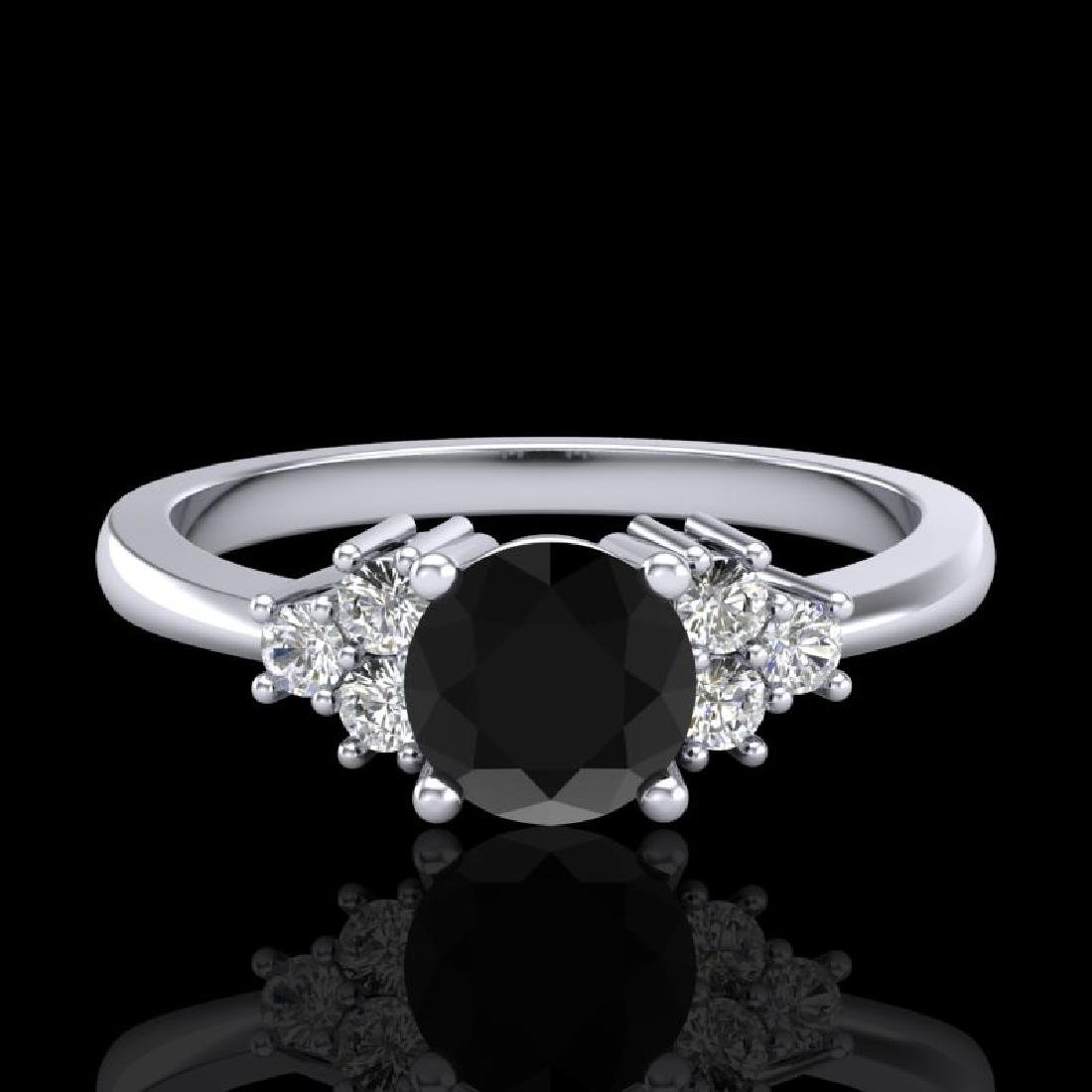 0.75 CTW Fancy Black Diamond Solitaire Engagement - 2