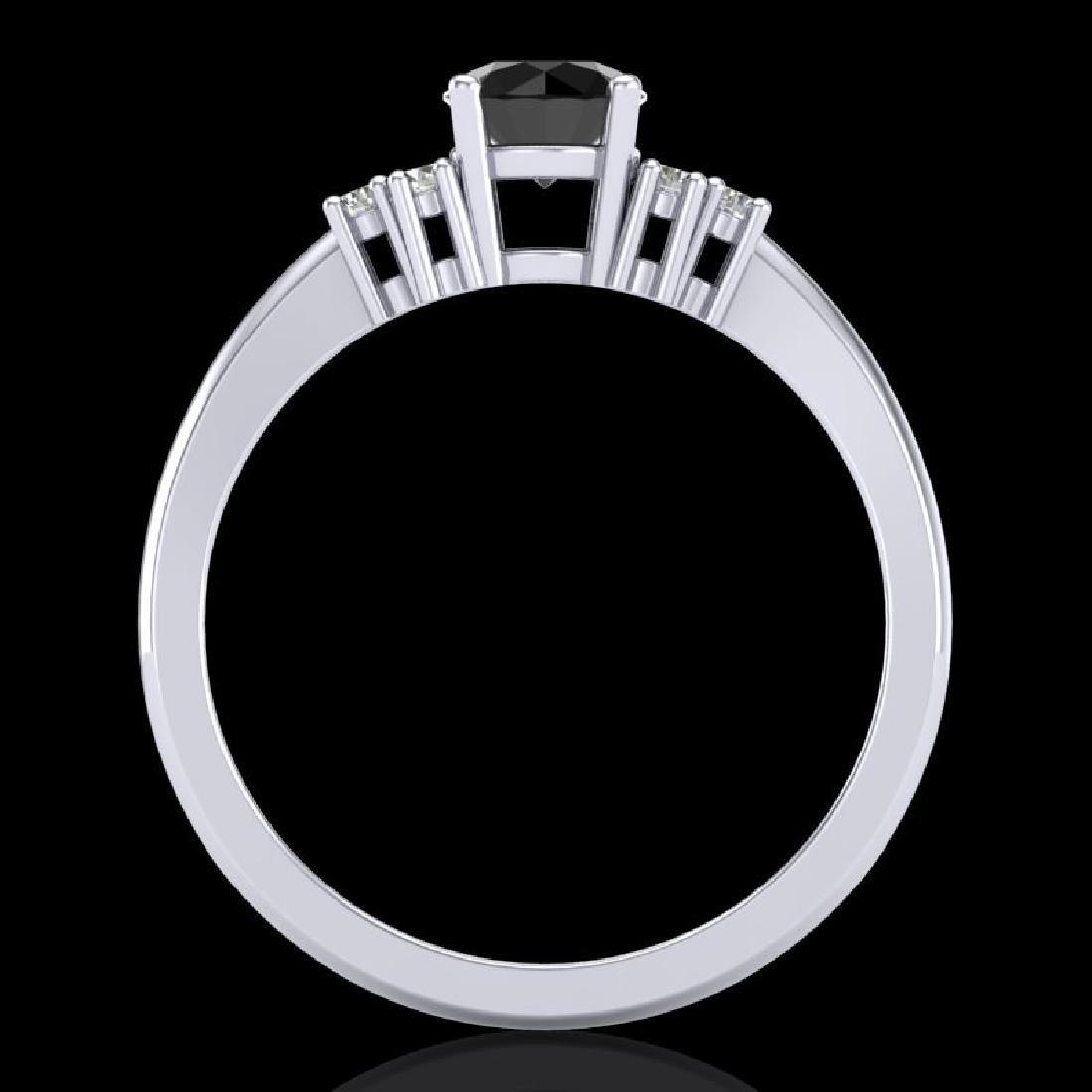 0.75 CTW Fancy Black Diamond Solitaire Engagement - 3