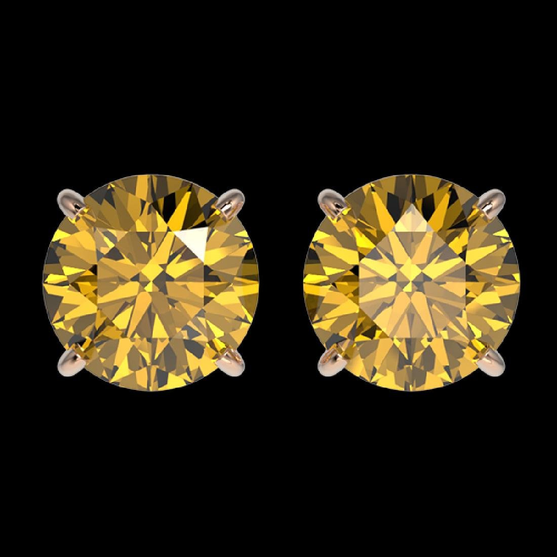 1.92 CTW Certified Intense Yellow SI Diamond Solitaire