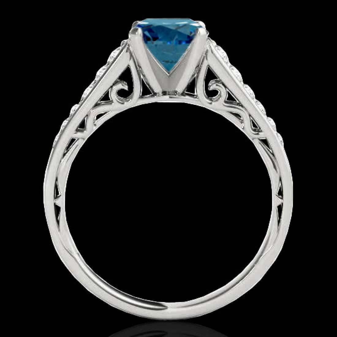 1.35 CTW SI Certified Fancy Blue Diamond Solitaire Ring - 2