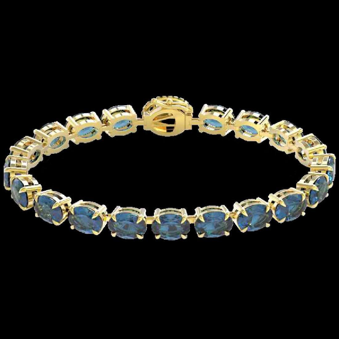 36 CTW London Blue Topaz & VS/SI Diamond Tennis Micro