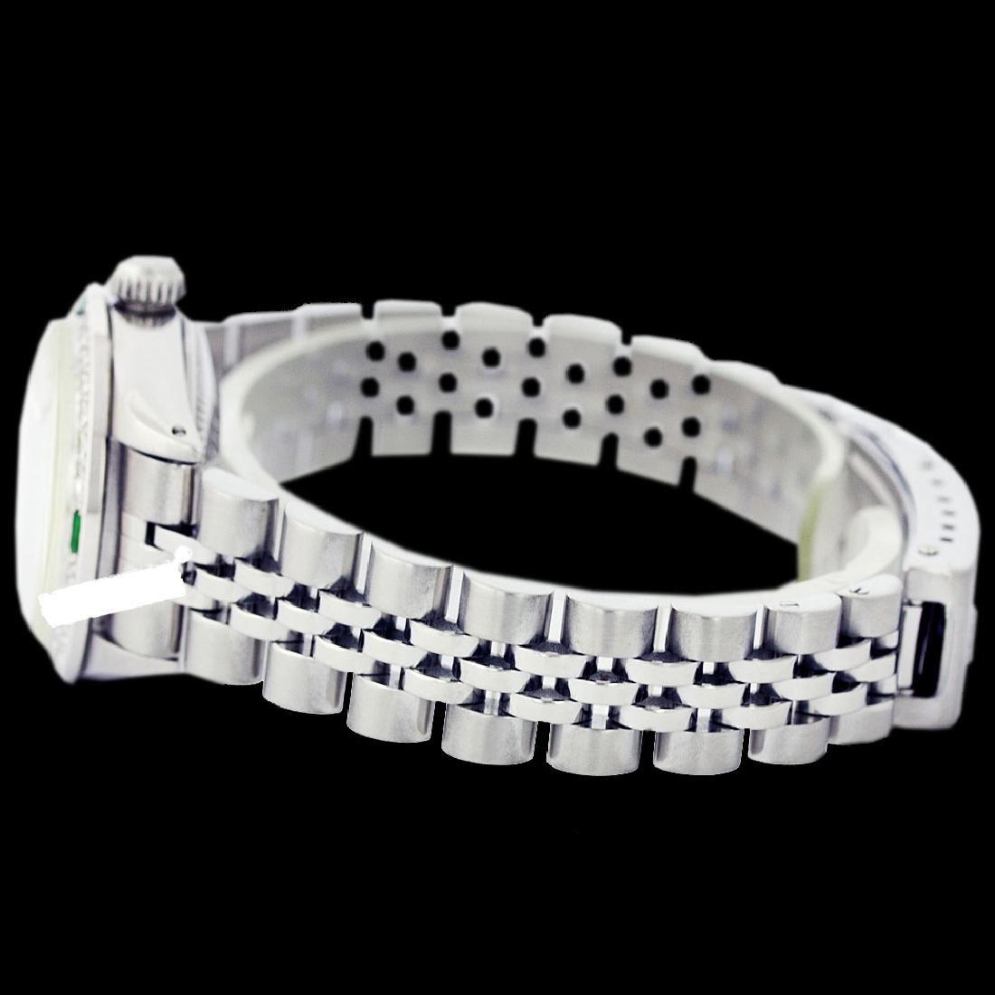Rolex Ladies Stainless Steel, Diam Dial & Diam/Emerald - 4