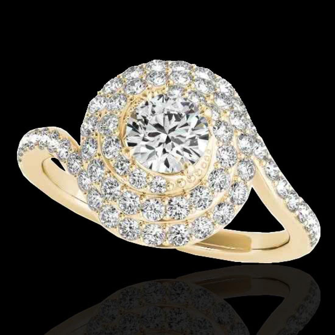1.86 CTW H-SI/I Certified Diamond Solitaire Halo Ring