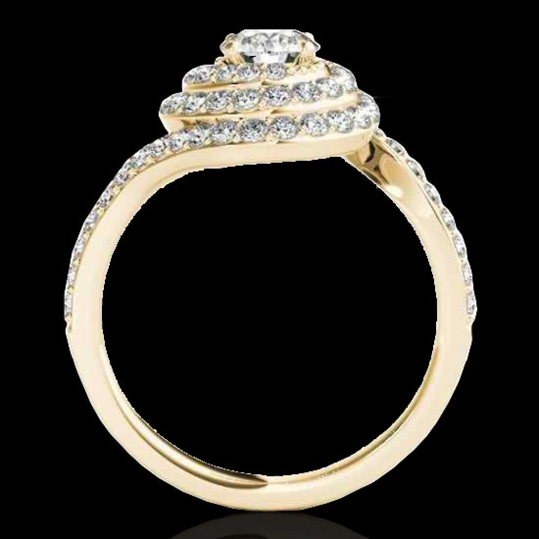 1.86 CTW H-SI/I Certified Diamond Solitaire Halo Ring - 2