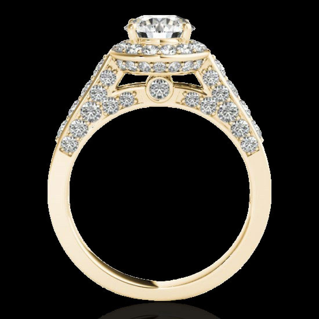 2.56 CTW H-SI/I Certified Diamond Solitaire Halo Ring - 2