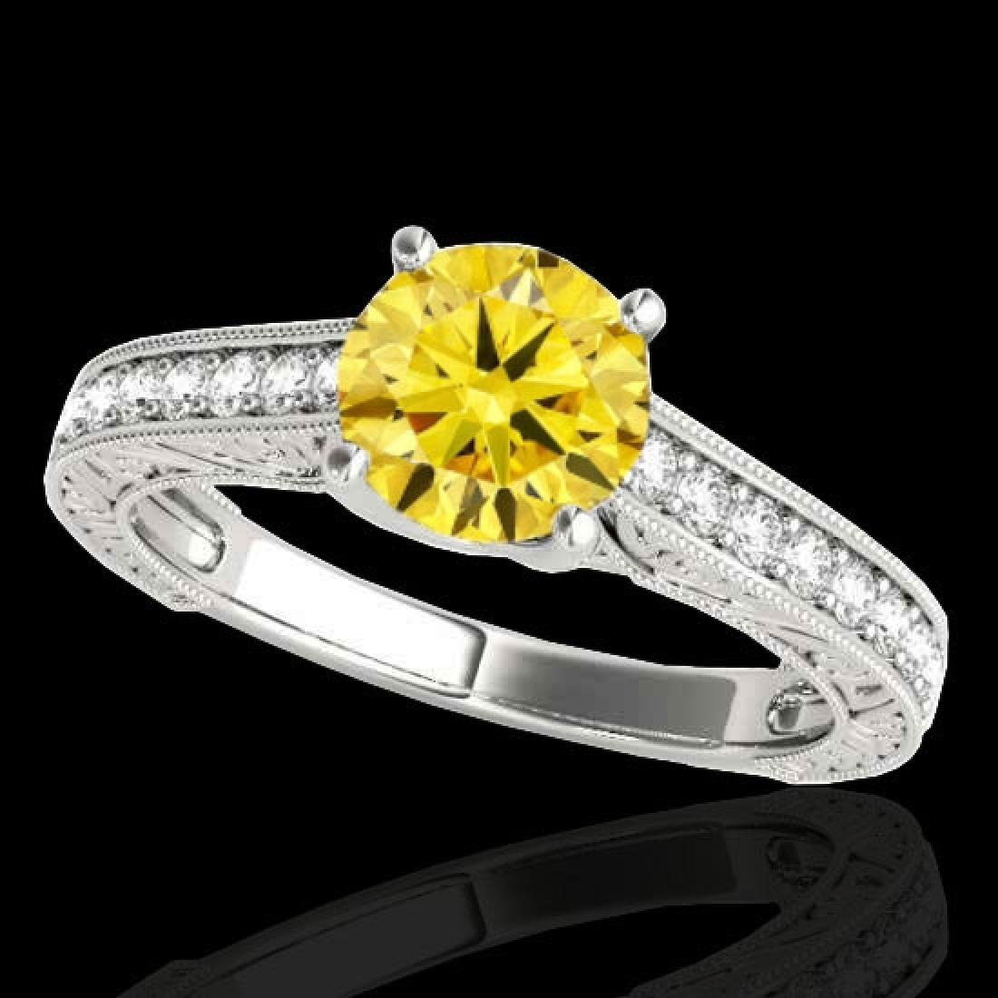 1.82 CTW Certified SI/I Fancy Intense Yellow Diamond