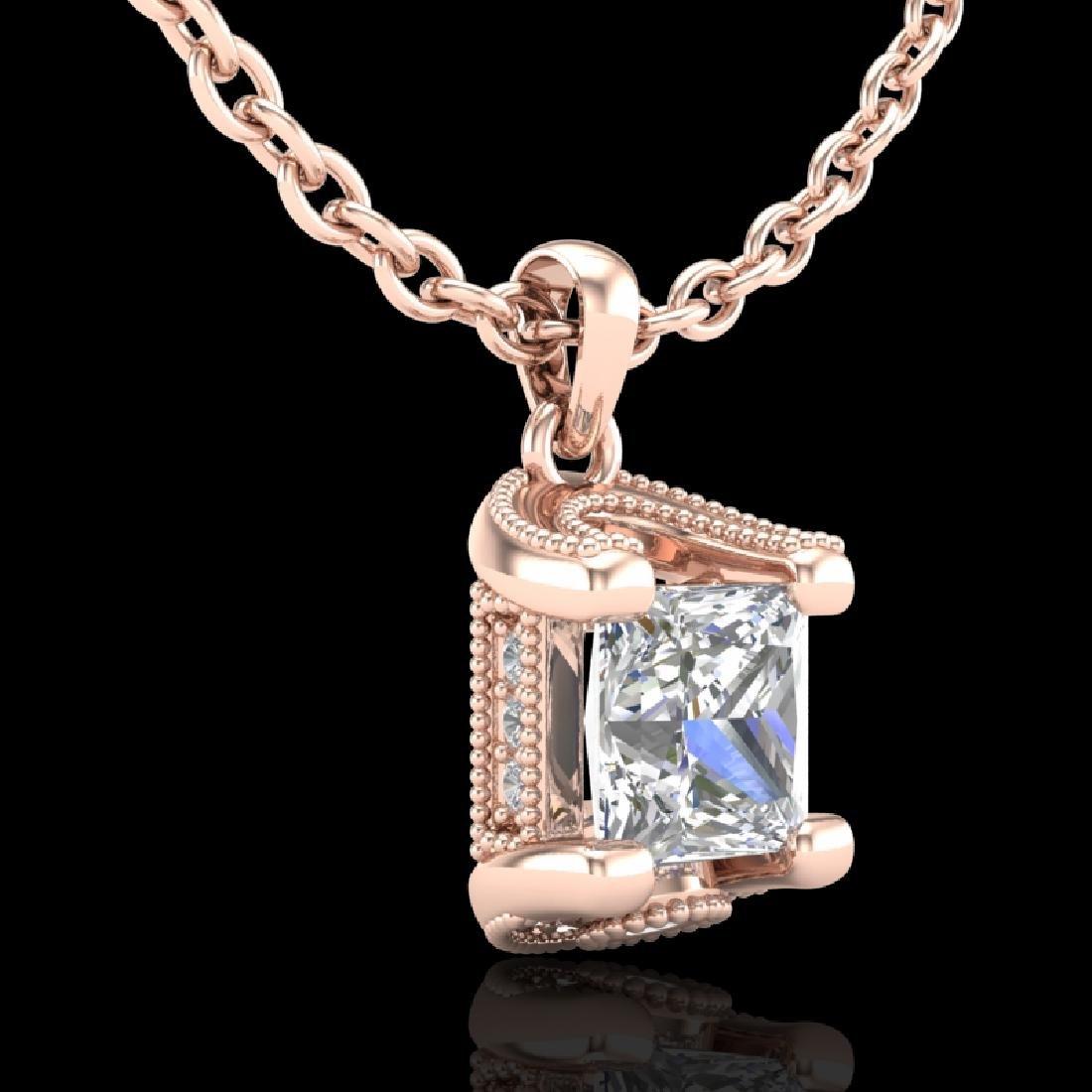 1.25 CTW Princess VS/SI Diamond Solitaire Art Deco - 3