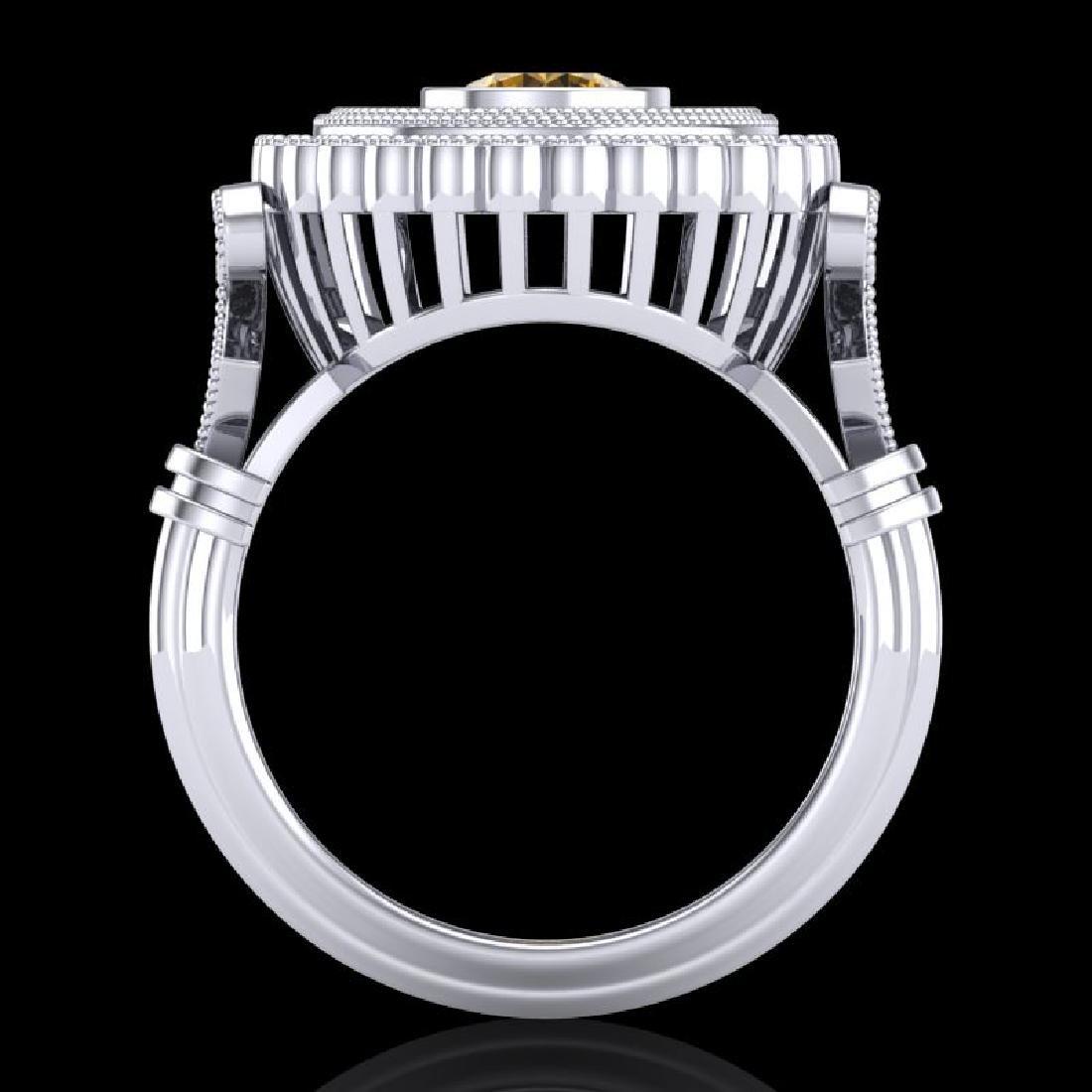 2.03 CTW Intense Fancy Yellow Diamond Engagement Art - 3