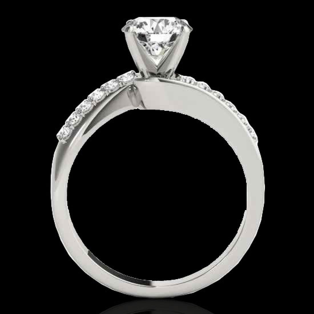 1.15 CTW H-SI/I Certified Diamond Bypass Solitaire Ring - 2