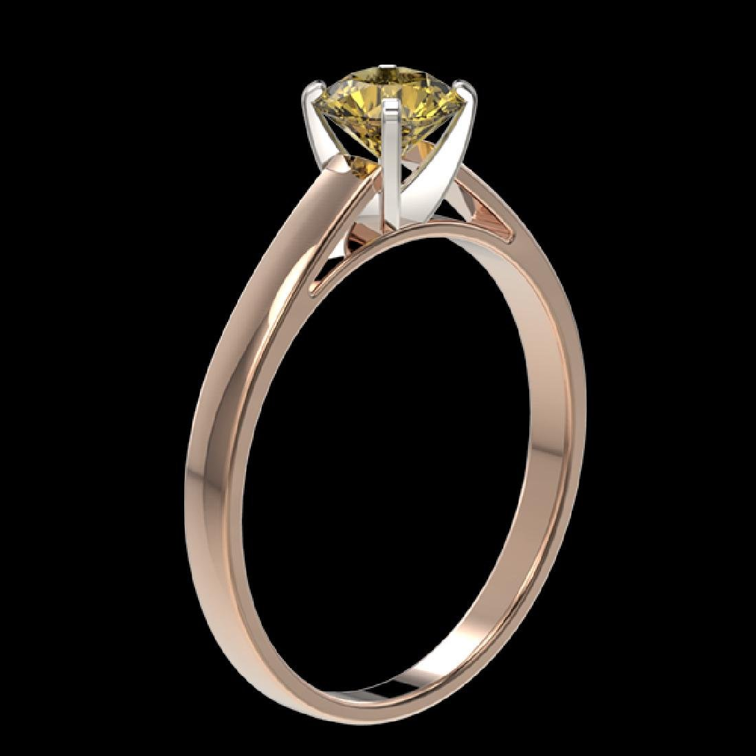 0.74 CTW Certified Intense Yellow SI Diamond Solitaire - 3
