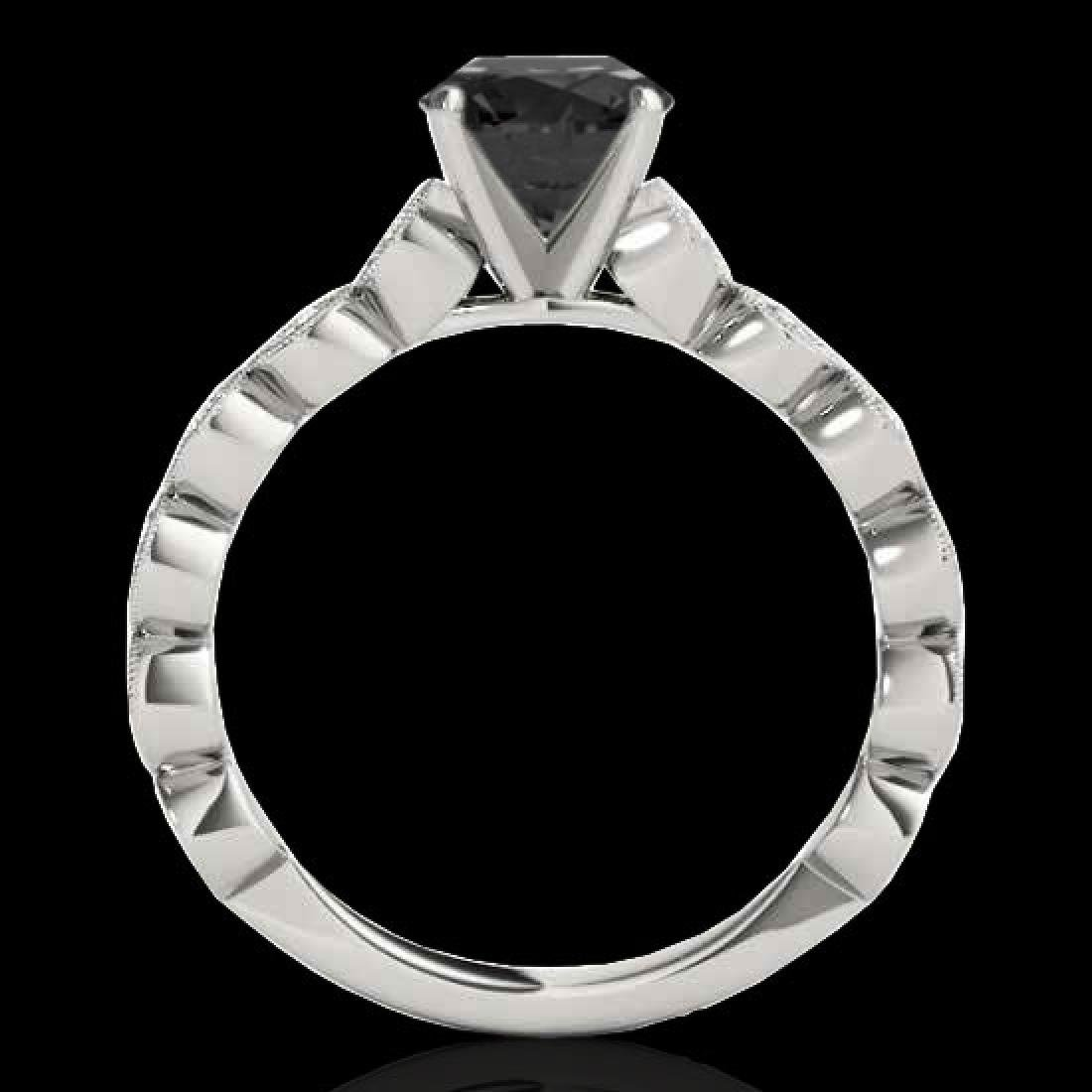 1.75 CTW Certified VS Black Diamond Solitaire Ring 10K - 2