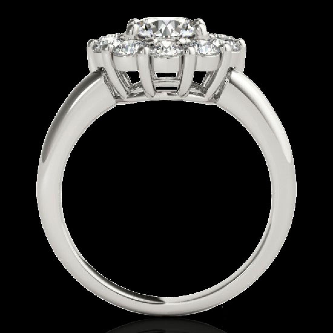 2.09 CTW H-SI/I Certified Diamond Solitaire Halo Ring - 2