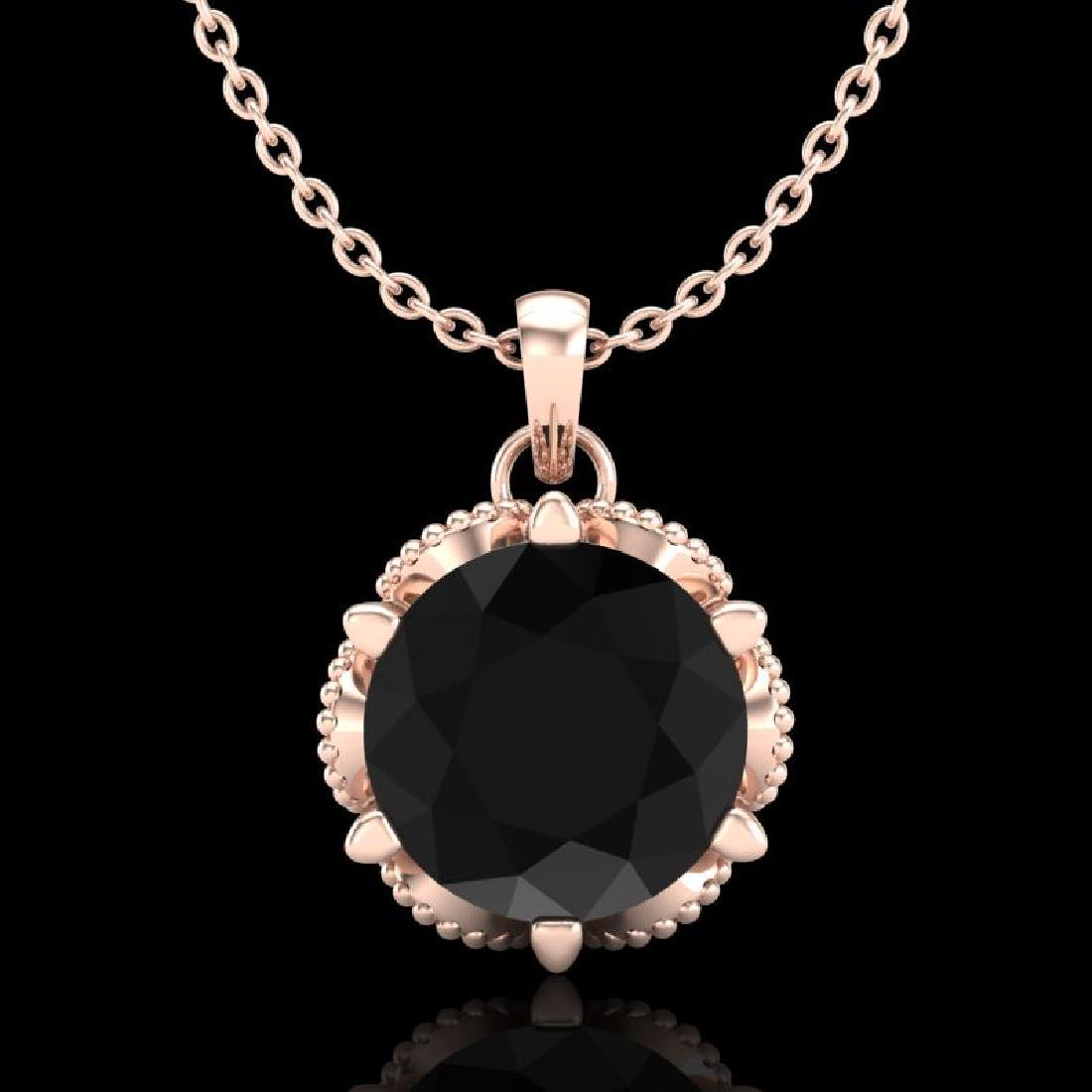1.36 CTW Fancy Black Diamond Solitaire Art Deco Stud