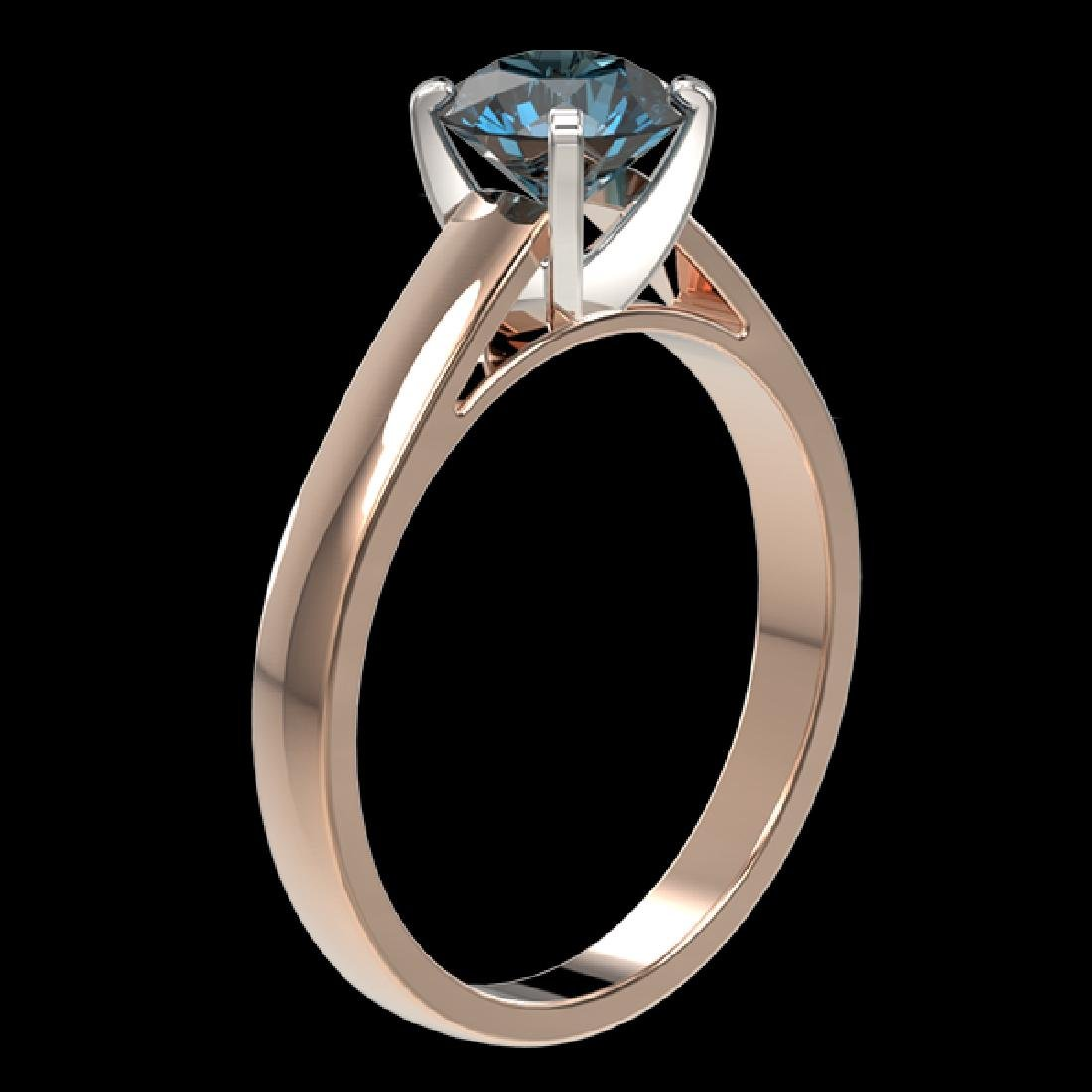 1.22 CTW Certified Intense Blue SI Diamond Solitaire - 3