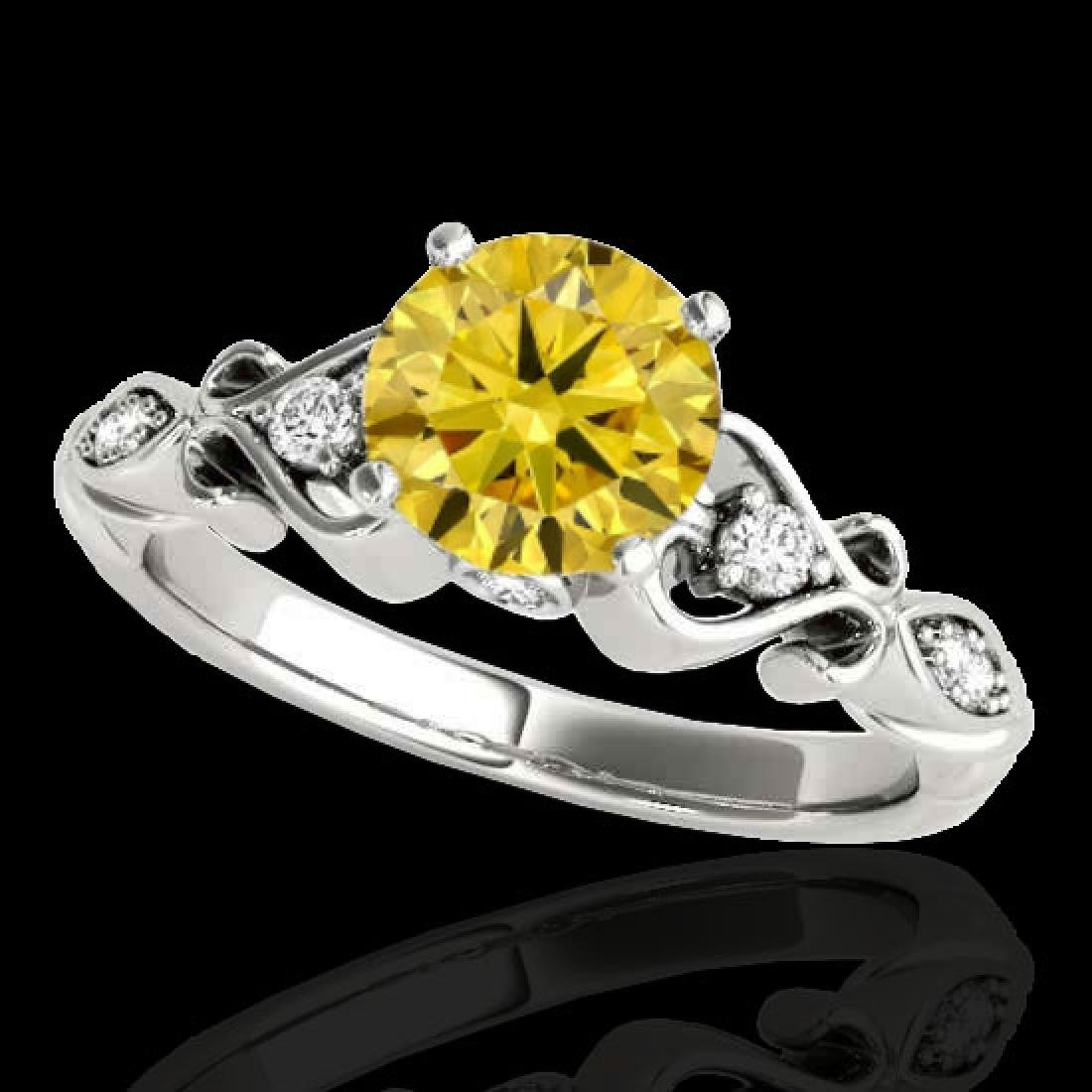 1.15 CTW Certified Si Intense Yellow Diamond Solitaire