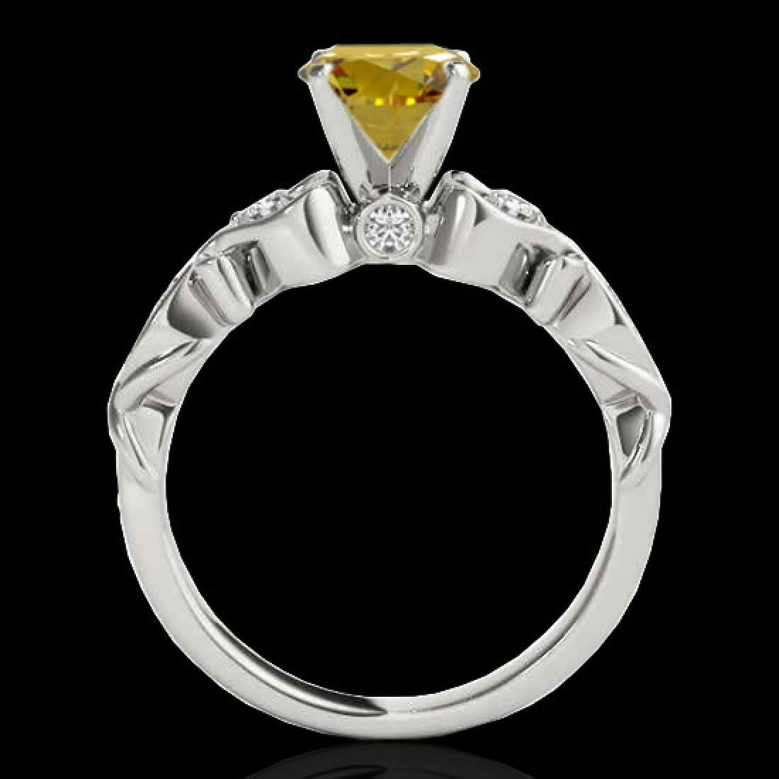 1.15 CTW Certified Si Intense Yellow Diamond Solitaire - 2