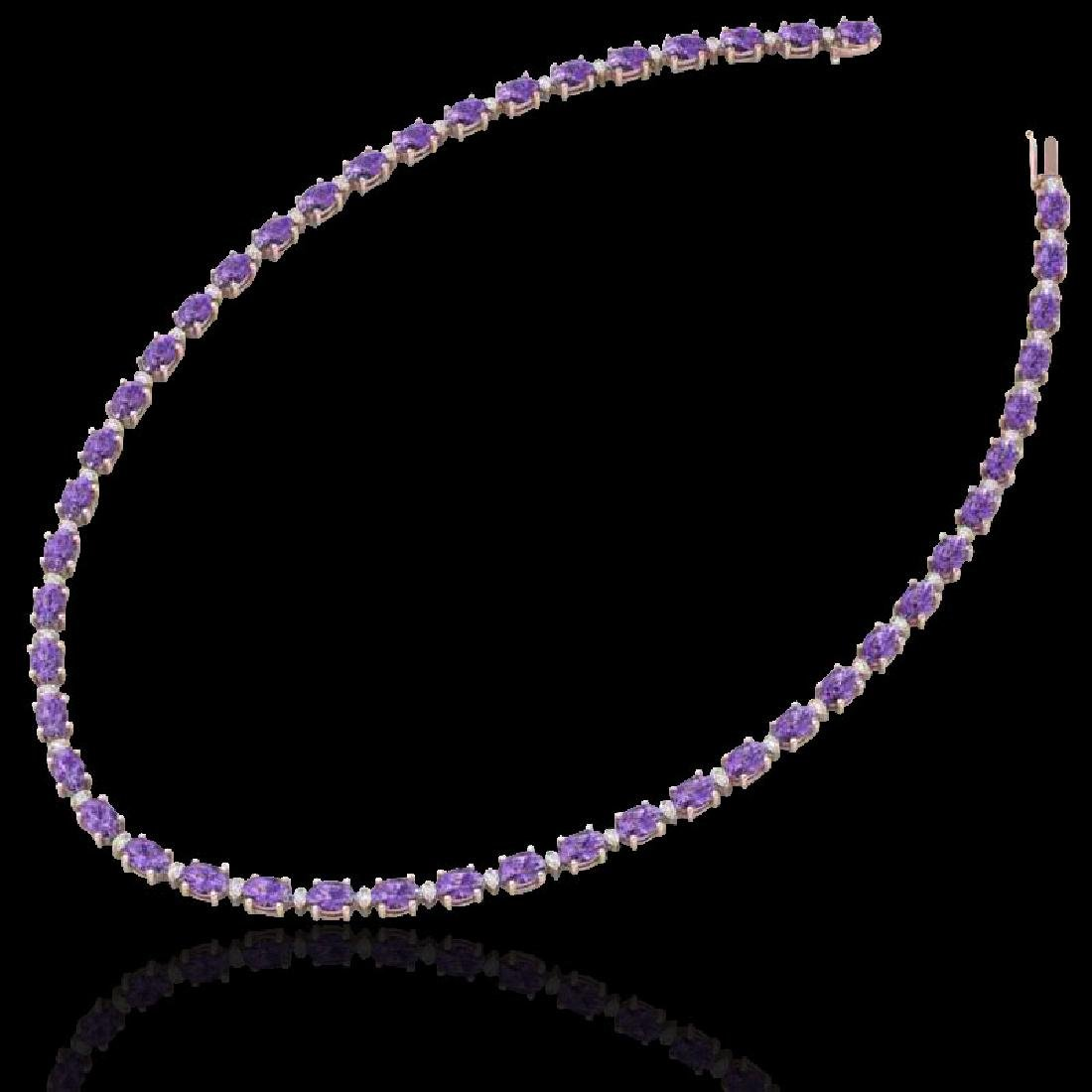 46.5 CTW Amethyst & VS/SI Certified Diamond Eternity - 2
