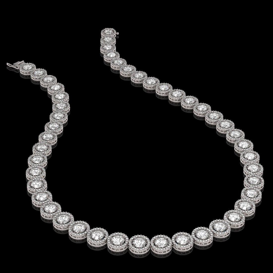 30.78 CTW Diamond Designer Necklace 18K White Gold - 2