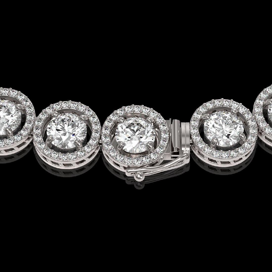 30.78 CTW Diamond Designer Necklace 18K White Gold - 3