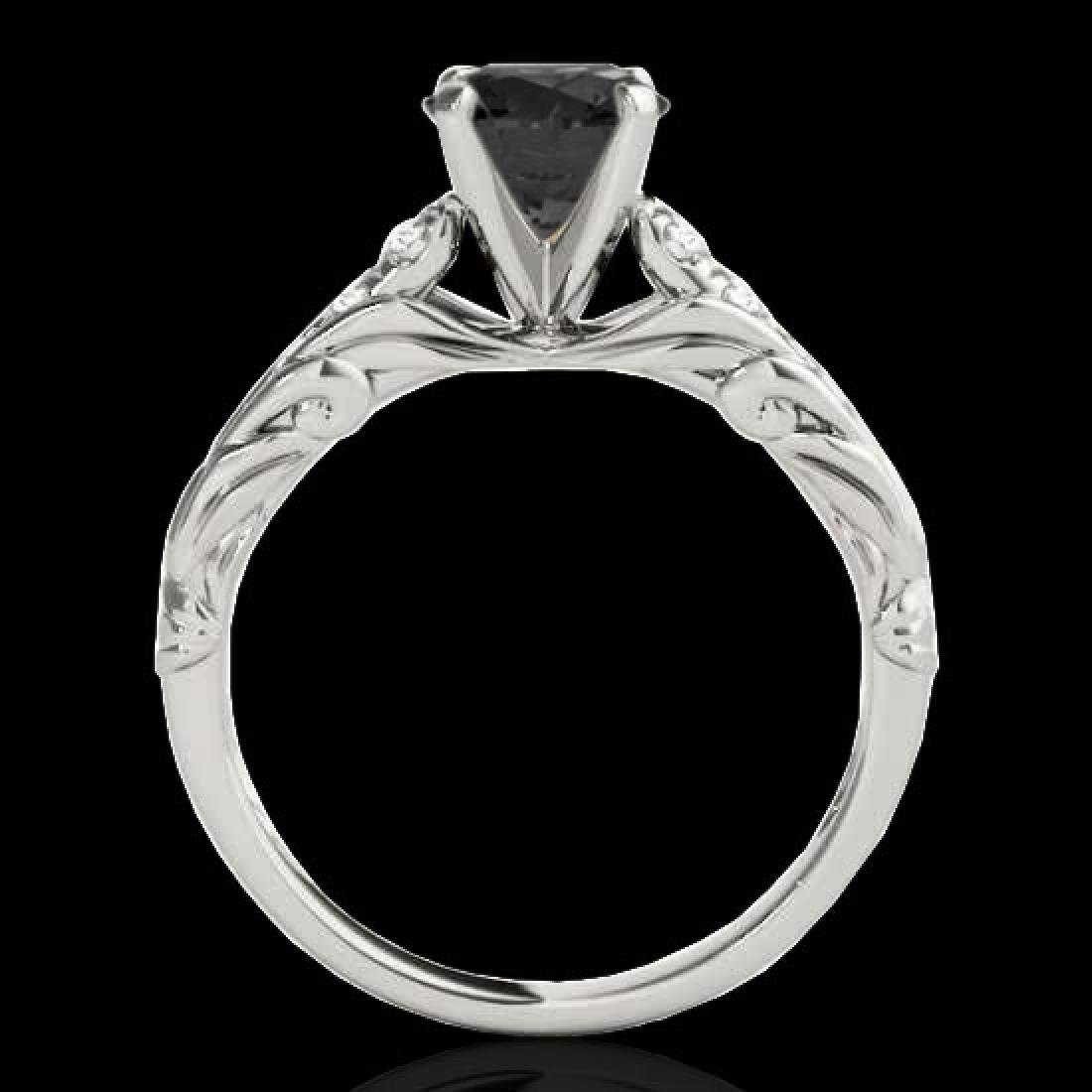 1.2 CTW Certified VS Black Diamond Solitaire Ring 10K - 2