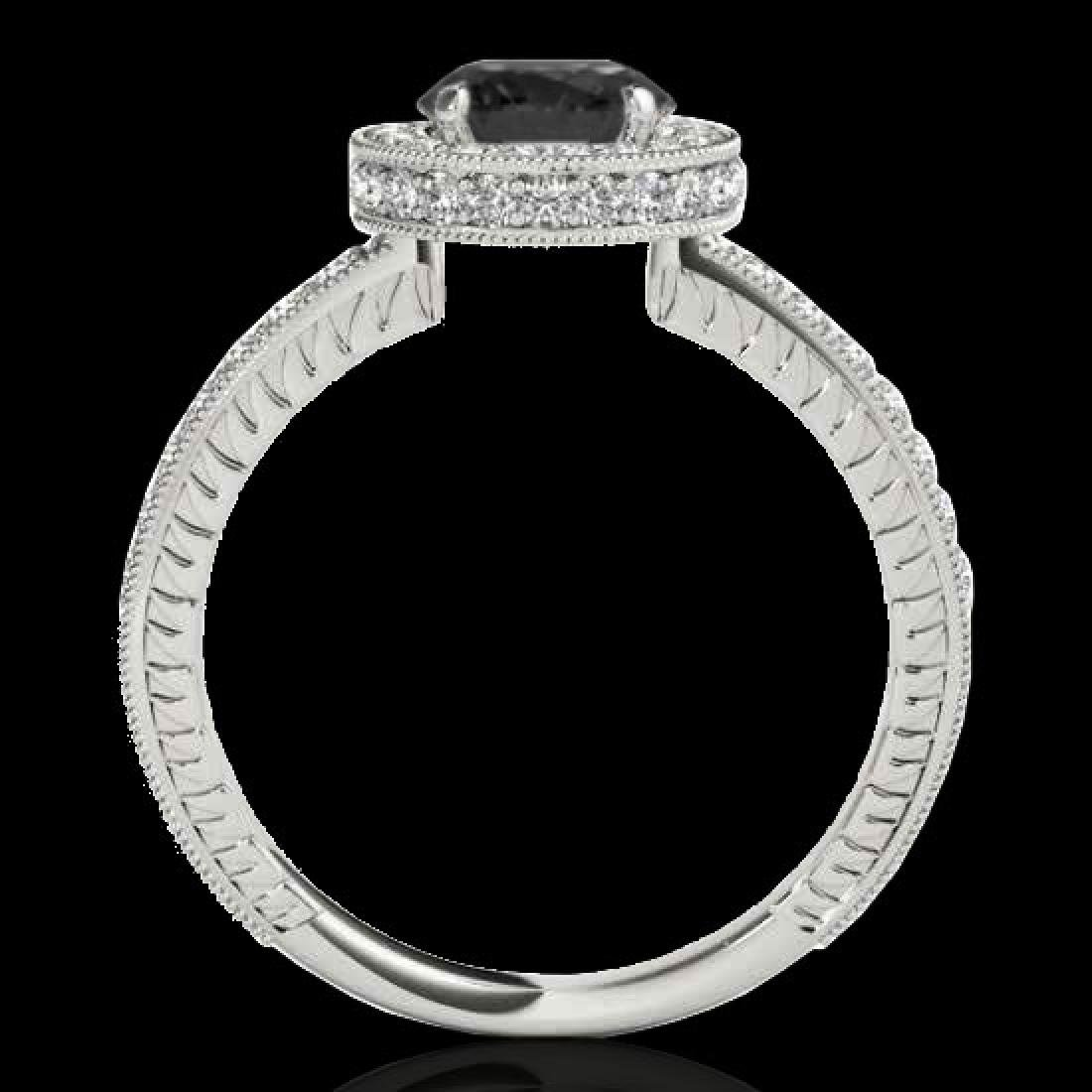 1.51 CTW Certified VS Black Diamond Solitaire Halo Ring - 2