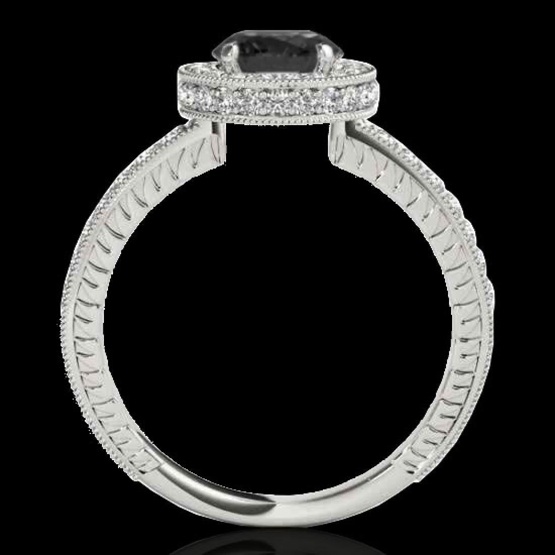 1.51 CTW Certified VS Black Diamond Solitaire Halo Ring - 2