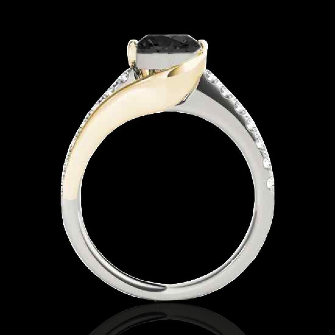 1.25 CTW Certified VS Black Diamond Solitaire Ring 10K - 2