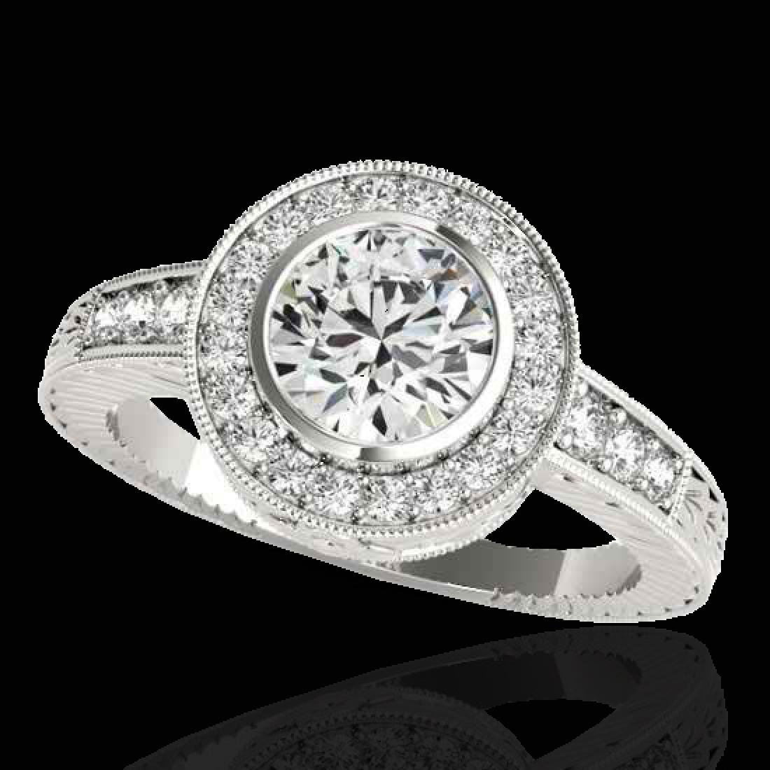 1.50 CTW H-SI/I Certified Diamond Solitaire Halo Ring