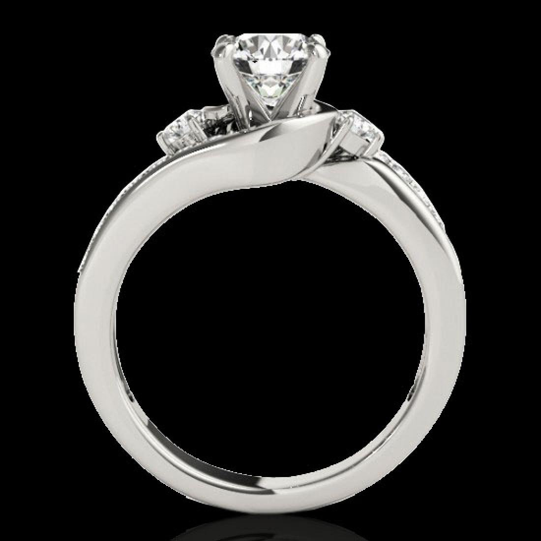 1.5 CTW H-SI/I Certified Diamond Bypass Solitaire Ring - 2