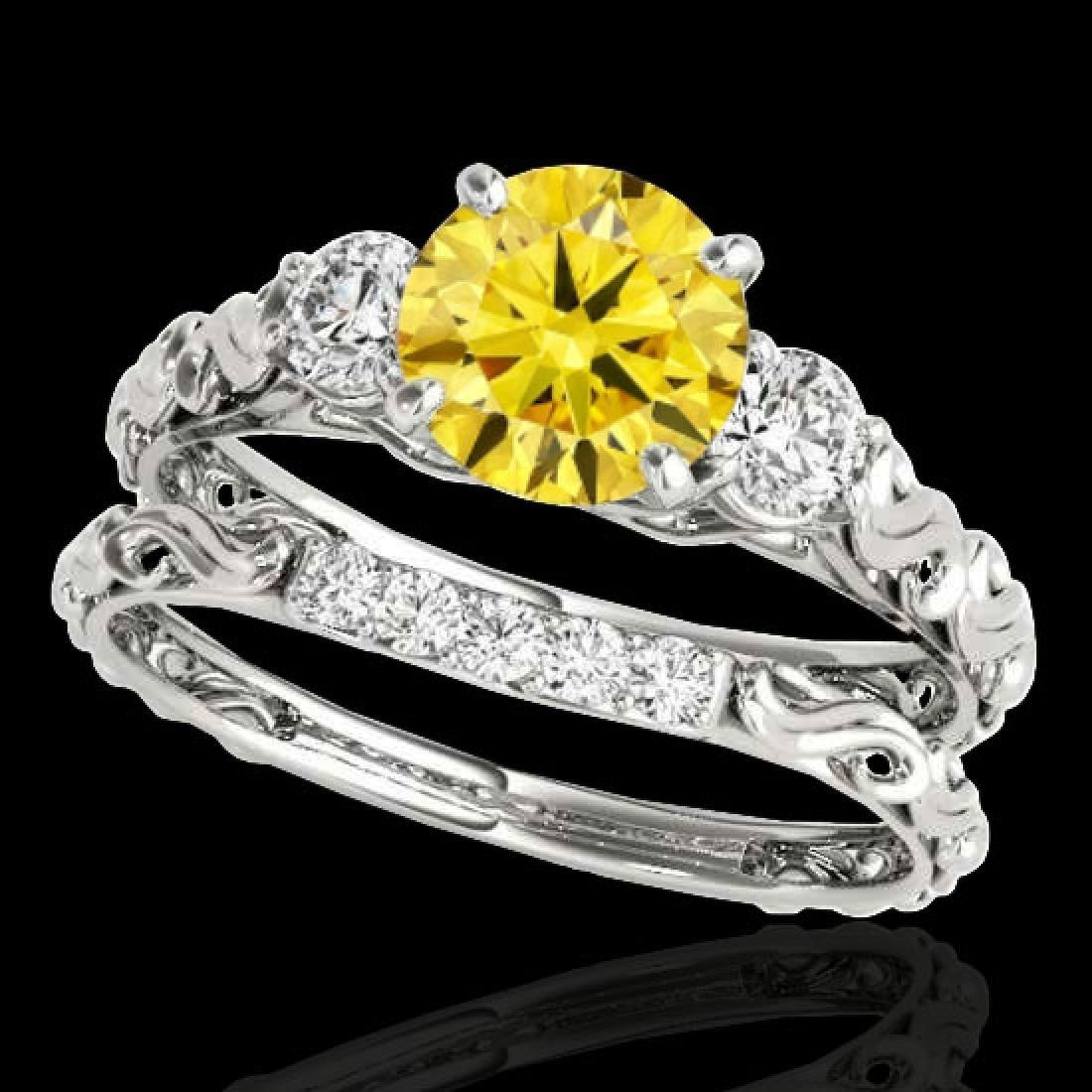 1.35 CTW Certified SI/I Fancy Intense Yellow Diamond 3