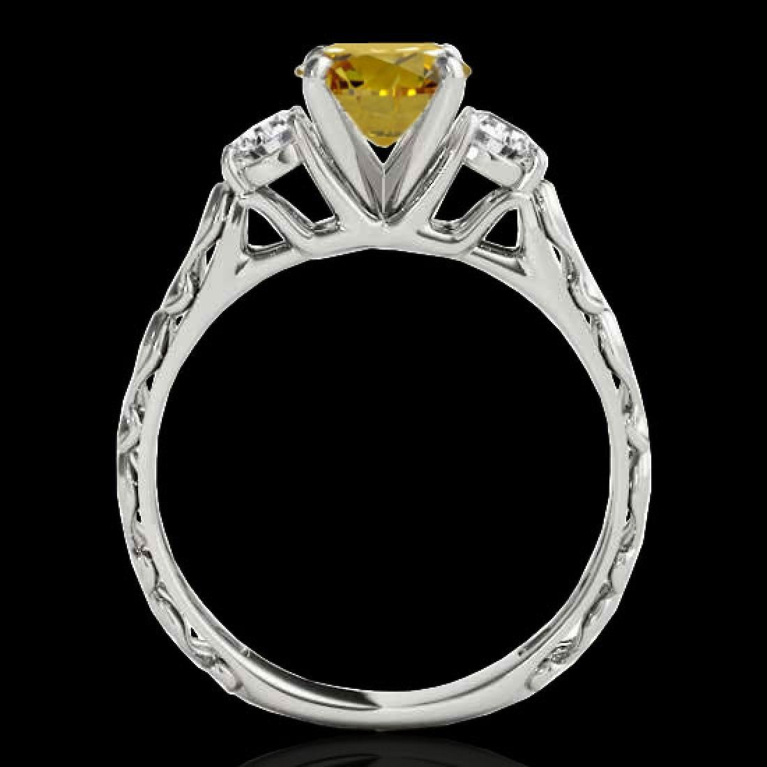 1.35 CTW Certified SI/I Fancy Intense Yellow Diamond 3 - 2