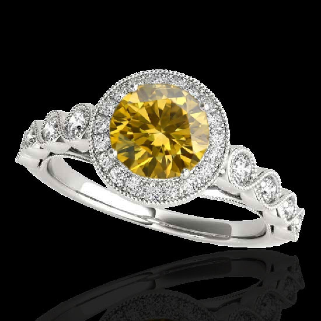 1.93 CTW Certified SI/I Fancy Intense Yellow Diamond