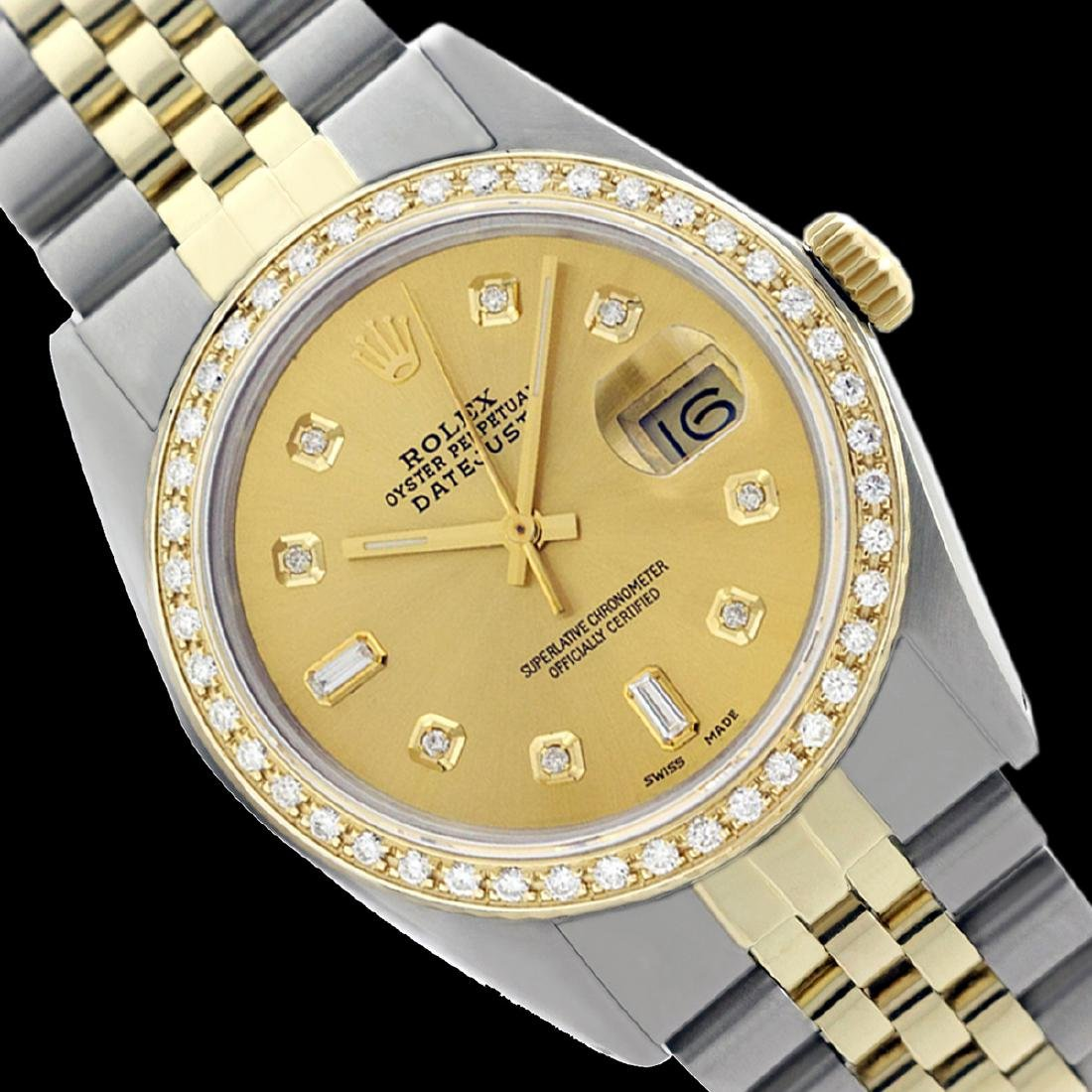 Rolex Men's Two Tone 14K Gold/SS , QuickSet, Diamond