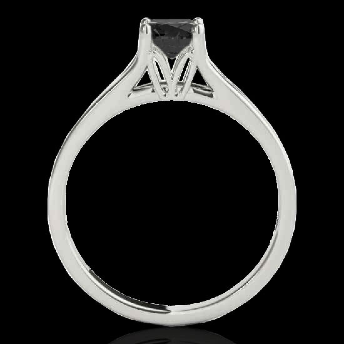 1.5 CTW Certified VS Black Diamond Solitaire Ring 10K - 2