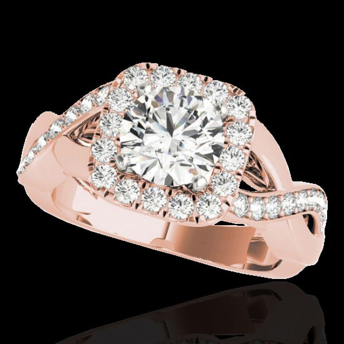 2 CTW H-SI/I Certified Diamond Solitaire Halo Ring 10K