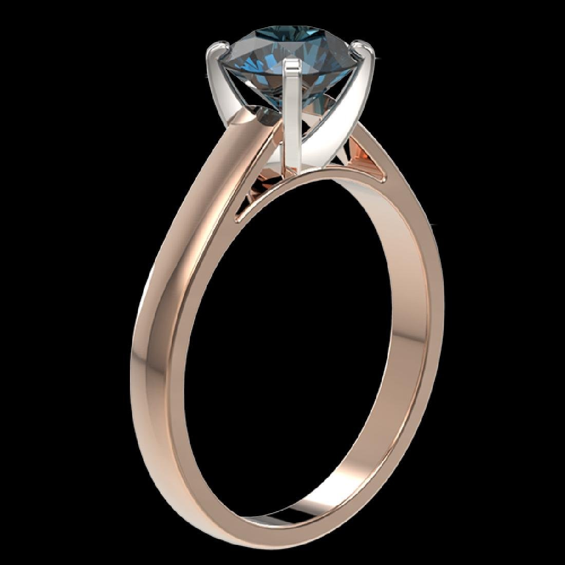 1.57 CTW Certified Intense Blue SI Diamond Solitaire - 3
