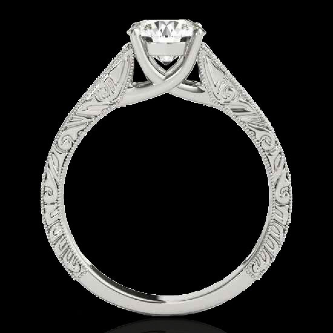 1 CTW H-SI/I Certified Diamond Solitaire Ring 10K White - 2