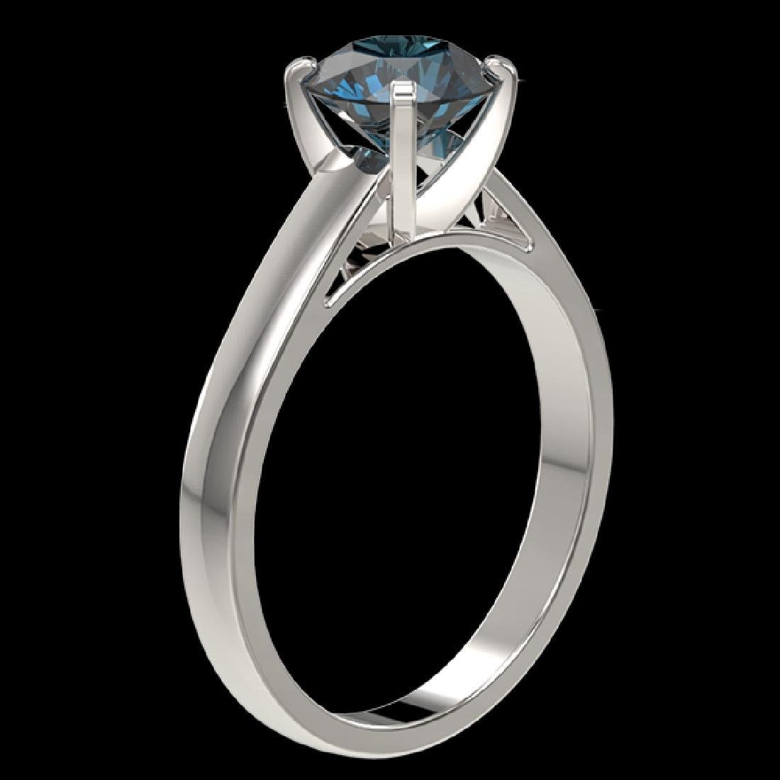 1.46 CTW Certified Intense Blue SI Diamond Solitaire - 3