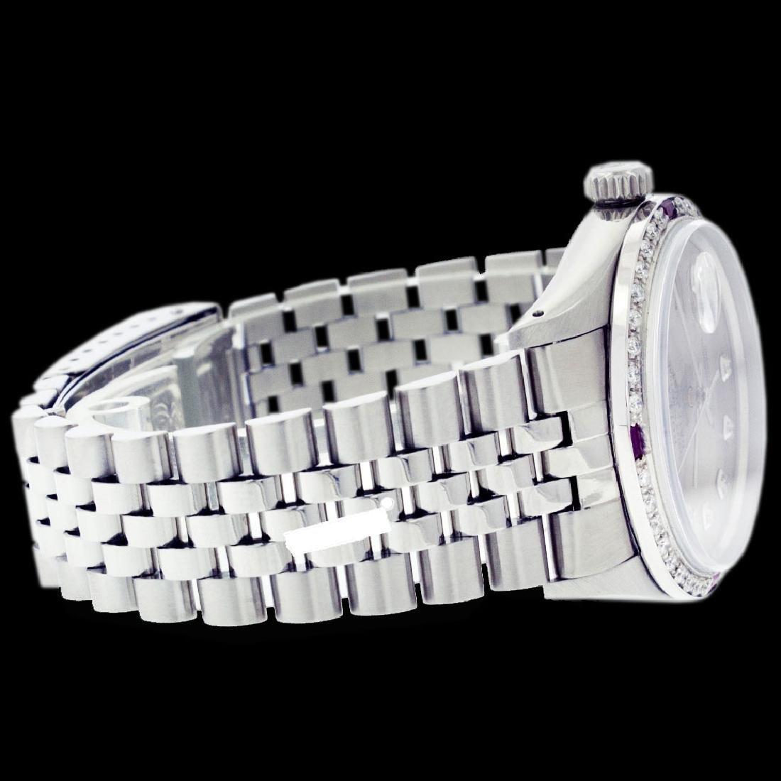 Rolex Ladies Stainless Steel, Diam Dial & Diam/Ruby - 2