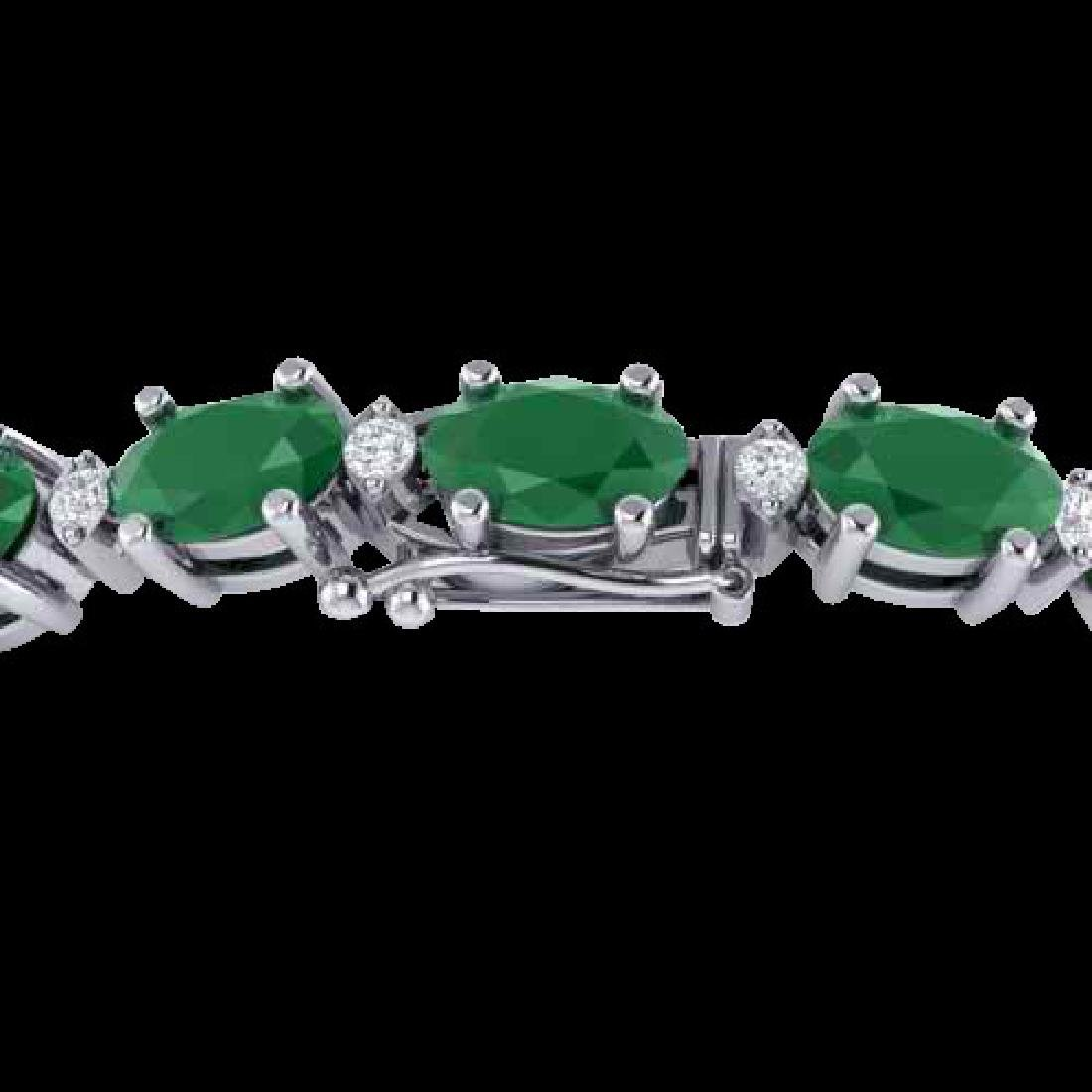 15 CTW Emerald & VS/SI Diamond Eternity Bracelet 10K