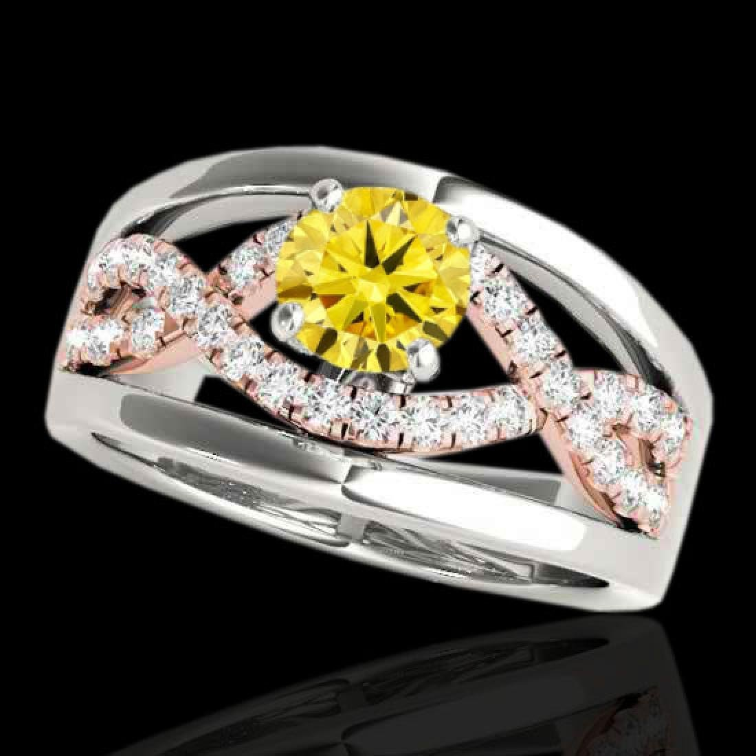 1.3 CTW Certified Si Fancy Yellow Diamond Solitaire