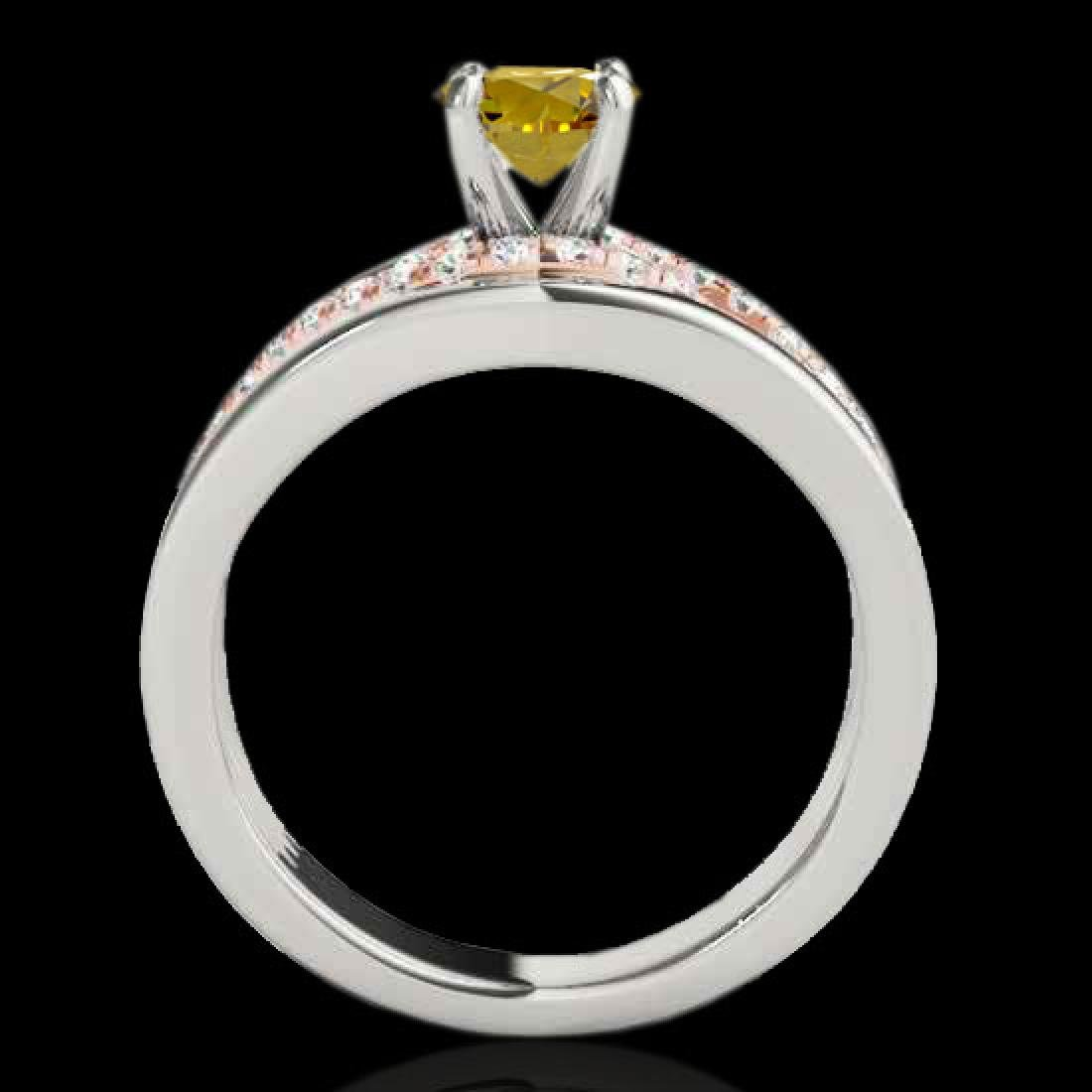 1.3 CTW Certified Si Fancy Yellow Diamond Solitaire - 2