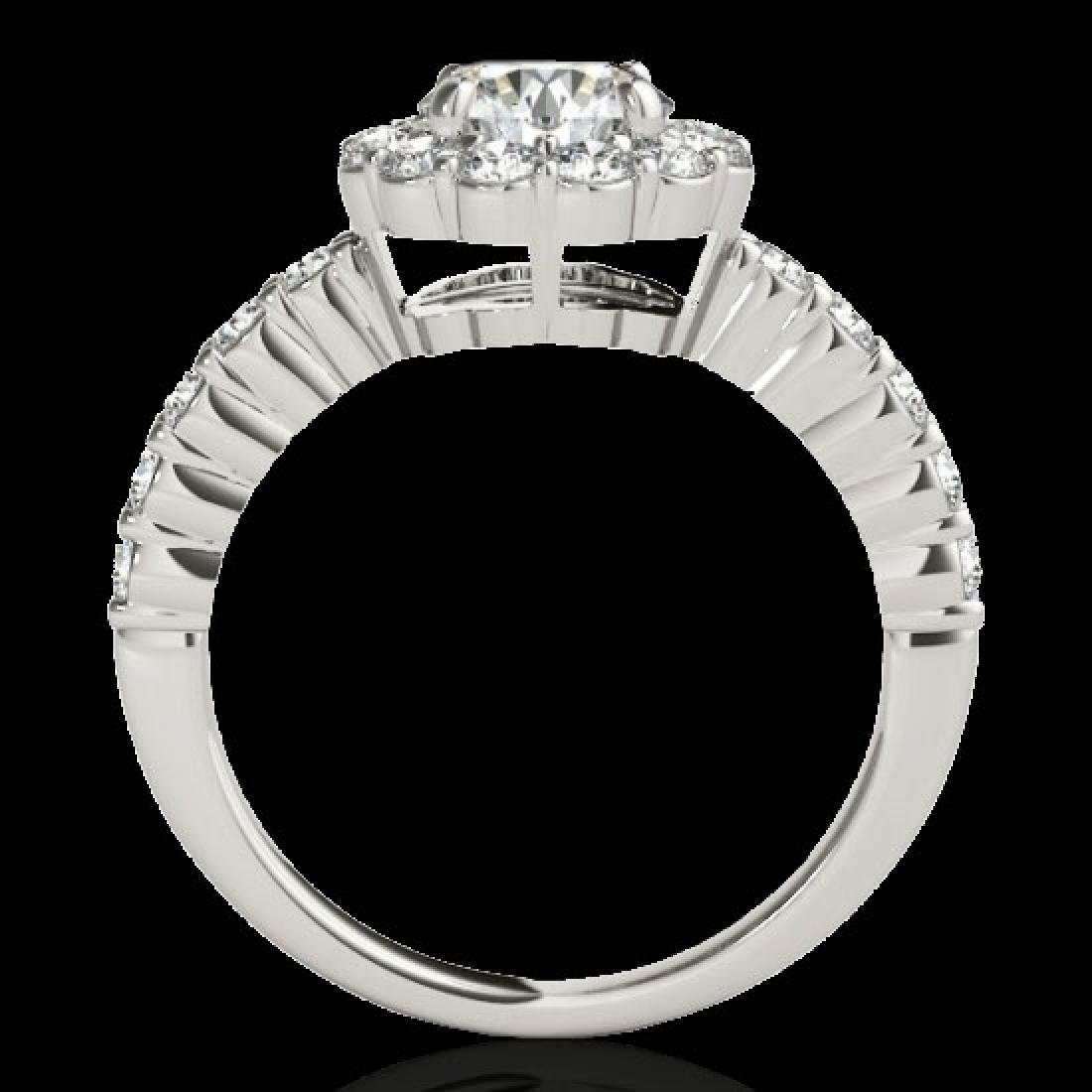 1.75 CTW H-SI/I Certified Diamond Solitaire Halo Ring - 2